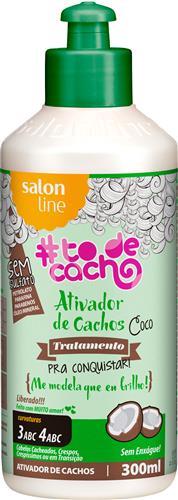 ATIVADOR DE CACHOS COCO #TODECACHO - TRATAMENTO PARA CONQUISTAR (3 E 4 ABC) 300ML
