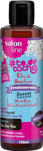 ÓLEO DE UMECTAÇÃO TÔ DE CACHO - ÊEEEE! MIX DE ÓLEOS OLIVA, GIRASSOL E COCO!