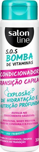 CONDICIONADOR SALON LINE - S.O.S BOMBA TRANSIÇÃO CAPILAR - 300ML