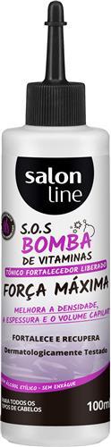 TÔNICO FORTALECEDOR SALON LINE - S.O.S BOMBA FORÇA MÁXIMA  - 100ML