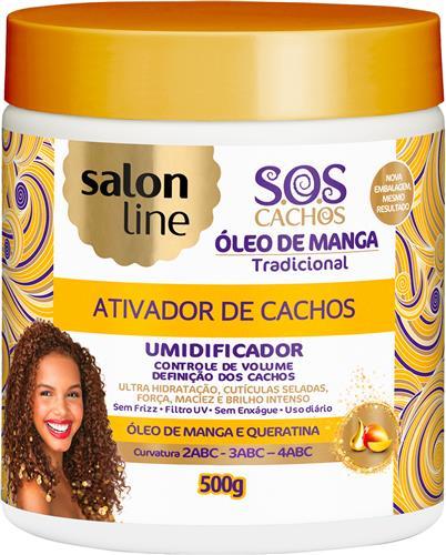 ATIVADOR DE CACHOS SALON LINE - S.O.S CACHOS - UMIDIFICADOR POTE - 500GR