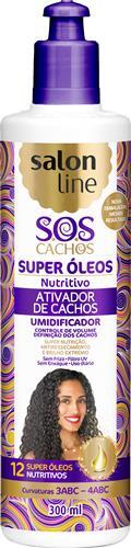 ATIVADOR DE CACHOS SALON LINE - S.O.S CACHOS - NUTRITIVO - 300ML
