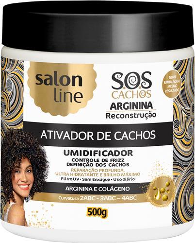 ATIVADOR DE CACHOS SALON LINE - S.O.S CACHOS - RECONSTRUÇÃO - 500GR