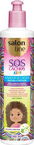 ATIVADOR DE CACHOS SALON LINE - S.O.S CACHOS - KIDS - 300ML