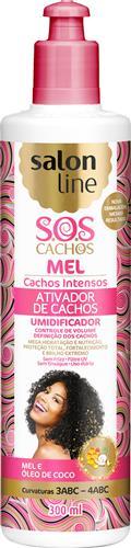 ATIVADOR DE CACHOS SALON LINE - S.O.S CACHOS - INTENSO - 300ML