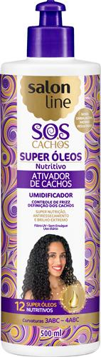 ATIVADOR DE CACHOS SALON LINE - S.O.S CACHOS - NUTRITIVO - 500ML