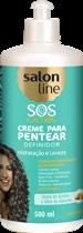 CREME PARA PENTEAR SALON LINE - S.O.S CACHOS BABOSA ONDULADOS A CACHEADOS - 500ML