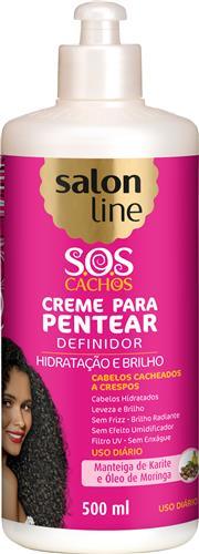 CREME PARA PENTEAR SALON LINE - S.O.S CACHOS BABOSA CACHEADOS A CRESPOS - 500ML