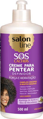 CREME PARA PENTEAR SALON LINE - S.O.S CACHOS BABOSA CRESPOS A MUITO CRESPOS - 500ML