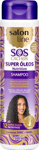 SHAMPOO SALON LINE - S.O.S CACHOS NUTRITIVOS - 300ML