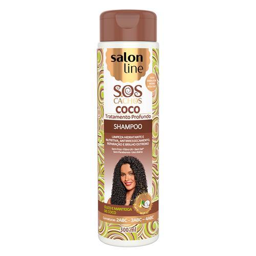 SHAMPOO SALON LINE - S.O.S CACHOS COCO - TRATAMENTO PROFUNDO - 300ML