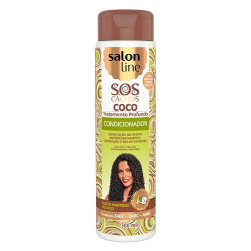CONDICIONADOR SALON LINE - S.O.S CACHOS - COCO - 300ML