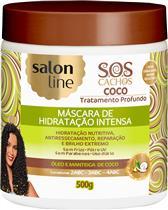 MÁSCARA DE HIDRATAÇÃO INTENSA SALON LINE - S.O.S CACHOS COCO TRATAMENTO PROFUNDO - 500GR
