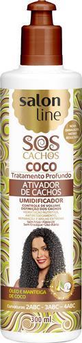 ATIVADOR DE CACHOS SALON LINE - S.O.S CACHOS - COCO - 300ML