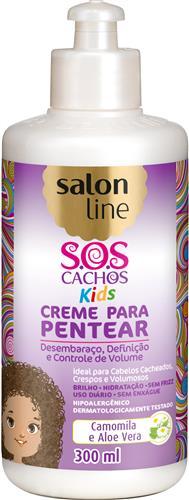 CREME PARA PENTEAR SALON LINE - S.O.S CACHOS KIDS - 300ML