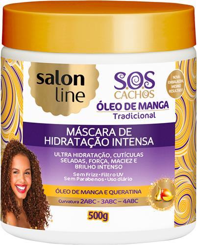 MÁSCARA DE HIDRATAÇÃO SALON LINE - S.O.S CACHOS INTENSA - 500GR
