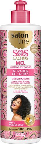 ATIVADOR DE CACHOS SALON LINE - S.O.S CACHOS - INTENSO - 500ML