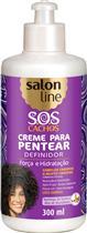 CREME PARA PENTEAR SALON LINE - S.O.S CACHOS BABOSA CRESPOS A MUITO CRESPOS - 300ML