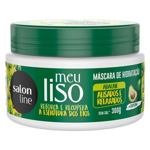 MÁSCARA DE HIDRA-NUTRIÇÃO SALON LINE - MEU LISO #ALISADO&RELAXADO - 500GR