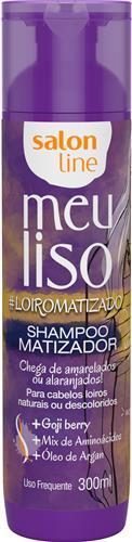 SHAMPOO MATIZADOR SALON LINE - MEU LISO #LOIROMATIZADO - 300ML