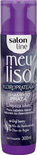 SHAMPOO SALON LINE - MEU LISO PRATA #LOIROPRATEADO - 300ML