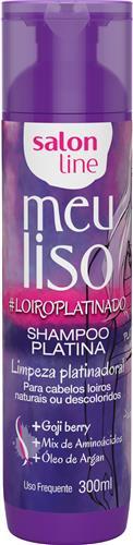 SHAMPOO SALON LINE - MEU LISO PLATINA #LOIROPLATINADO - 300ML