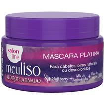 MÁSCARA PLATINA SALON LINE - MEU LISO #LOIROPLATINADO - 300GR