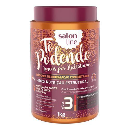 MÁSCARA DE HIDRATAÇÃO SALON LINE - TÔ PODENDO HIDRO-NUTRIÇÃO ESTRUTURAL - 1KG