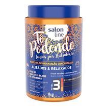 MÁSCARA DE HIDRATAÇÃO SALON LINE - TÔ PODENDO PARA ALISADOS & RELAXADOS - 1KG