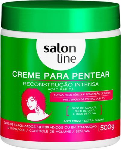 CREME PARA PENTEAR SALON LINE - RECONSTRUÇÃO INTENSA - 500G
