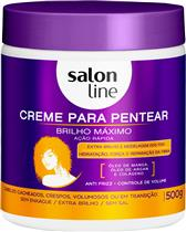 CREME PARA PENTEAR SALON LINE - BRILHO MÁXIMO - 500G