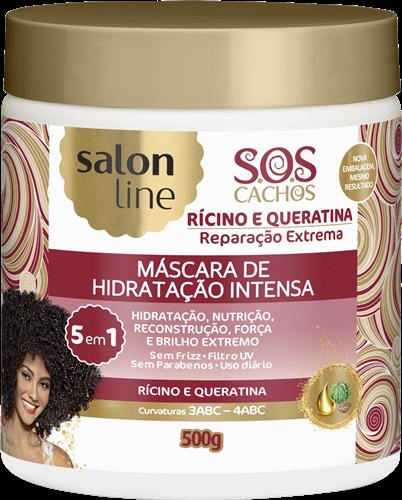 MÁSCARA DE HIDRATAÇÃO SALON LINE - S.O.S CACHOS HIDRATAÇÃO INTENSA 5 EM 1 - 500GR