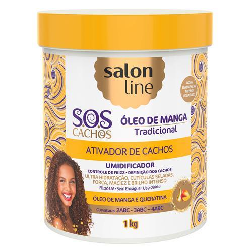 ATIVADOR DE CACHOS SALON LINE - S.O.S CACHOS - UMIDIFICADOR - 1KG