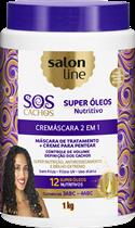 CREMÁSCARA 2X1 SALON LINE - S.O.S CACHOS NUTRITIVO - 1KG