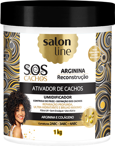 ATIVADOR DE CACHOS SALON LINE - S.O.S CACHOS - RECONSTRUÇÃO - 1KG