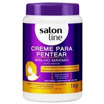 CREME PARA PENTEAR SALON LINE - BRILHO MÁXIMO - 1KG