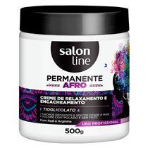 PERMANENTE AFRO SALON LINE - CREME DE RELAXAMENTO E ENCACHEAMENTO - 500 ML