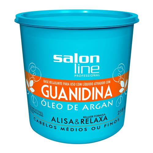 GUANIDINA SALON LINE - ÓLEO DE ARGAN REGULAR - 218GR