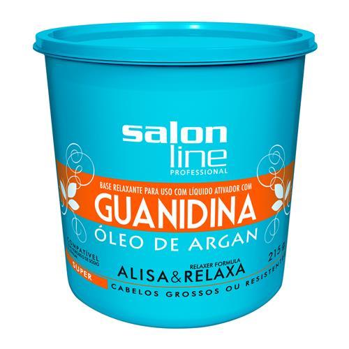 GUANIDINA SALON LINE - ÓLEO DE ARGAN SUPER - 215GR
