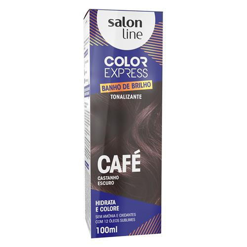 KIT COLOR EXPRESS SALON LINE - CAFE - CASTANHO ESCURO