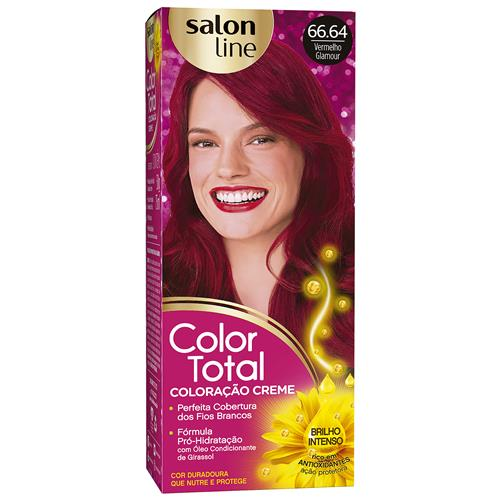 KIT COLOR TOTAL SALON LINE - 66.64 VERMELHO GLAMOUR