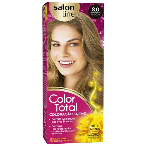 KIT COLOR TOTAL SALON LINE - 8.0 LOURO CLARO