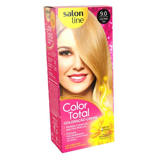 KIT COLOR TOTAL SALON LINE - 9.0 LOURO MUITO CLARO