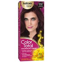 KIT COLOR TOTAL SALON LINE - 6.62 LOURO ESCURO VERM IRISADO