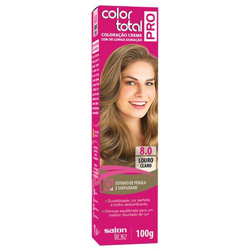 COLOR TOTAL PRO SALON LINE - 8.0 LOURO CLARO - 100GR