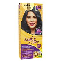LIGHT COLOR PROF SALON LINE - 1.0 PRETO AZULADO