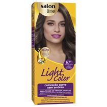 LIGHT COLOR PROF SALON LINE - 6.71 MARROM ACINZENTADO