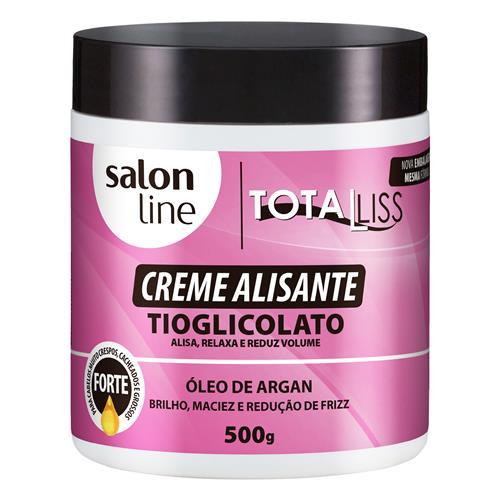 CREME ALISANTE SALON LINE - ARGAN OIL FORTE - 500G