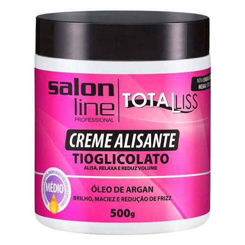 CREME ALISANTE SALON LINE - ARGAN OIL MÉDIO - 500G