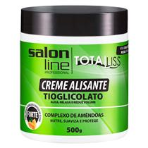 CREME ALISANTE SALON LINE - TOTAL LISS FORTE POTE - 500GR